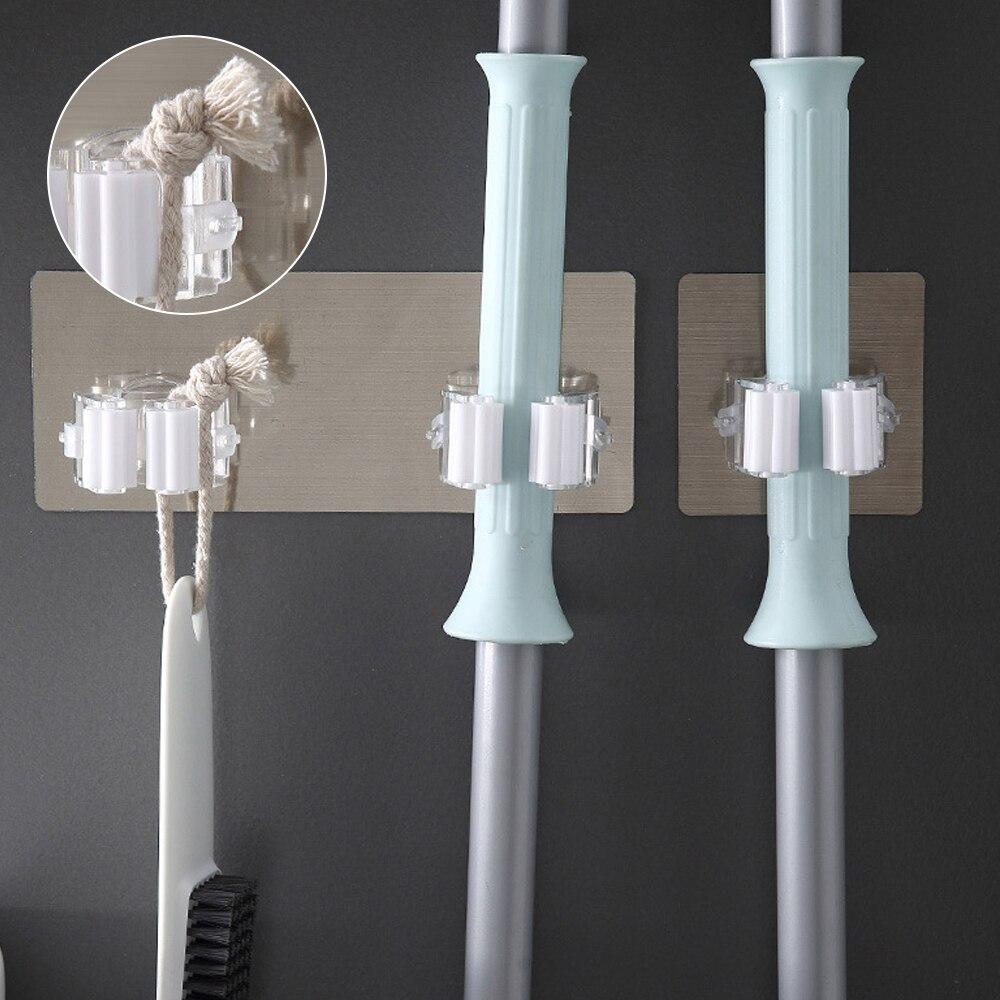 2 قطعة ممسحة كليب الحياة لوازم جبل ممسحة كليب راكفرش العملي لاصق جدار حامل الحمام الأدوات المنزلية مكنسة كليب