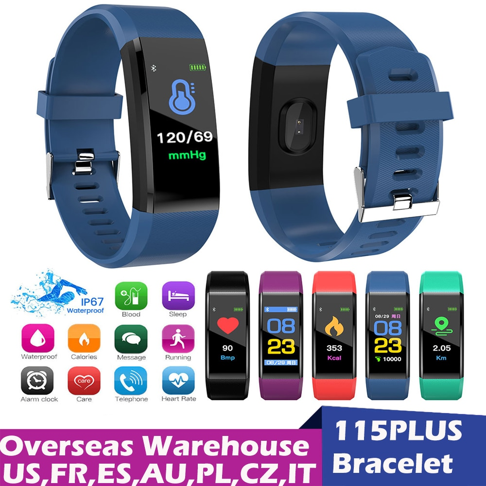 Fitness Tracker Sports Smart Watch With Blood Pressure Heart Rate Bracelet Screen Electronics