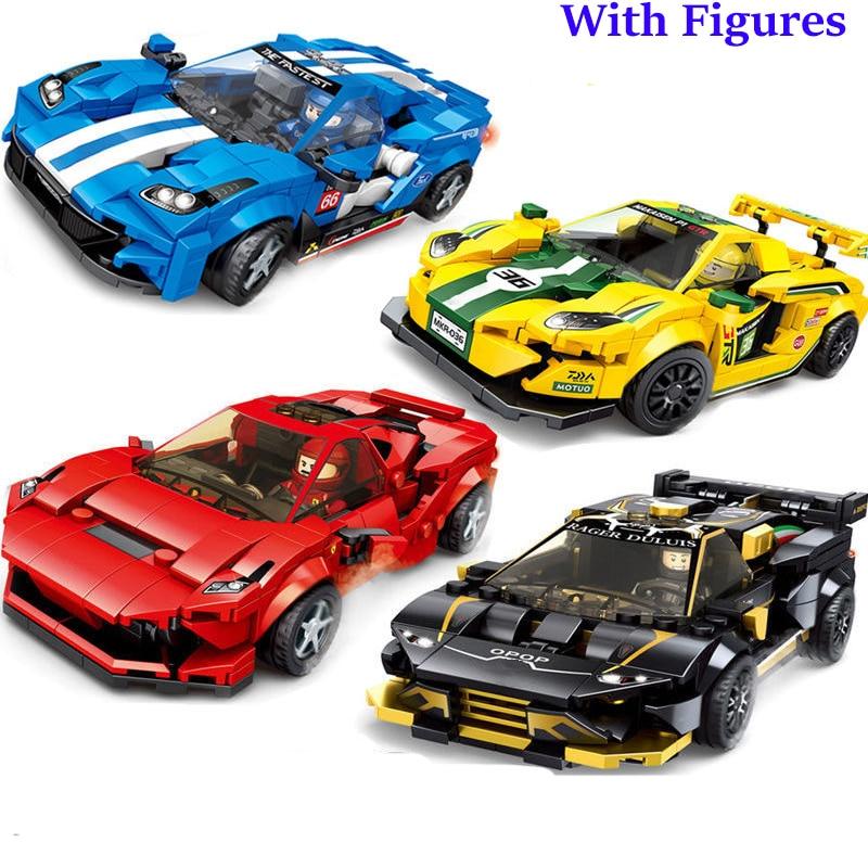 2020 New Technic Super Racing Champion Speed Car  Building Block Race F8 Creator Toys For Children Boys Kids Lepinglys 76895