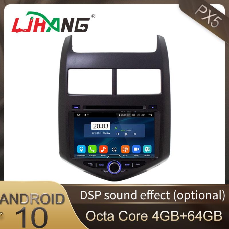 LJHANG سيارة DVD راديو لاعب الروبوت 10 لشفروليه أفيو/سونيك 2011 2012 2013 WIFI GPS نافي الوسائط المتعددة السيارات ستيريو 4GB + 64GB RDS
