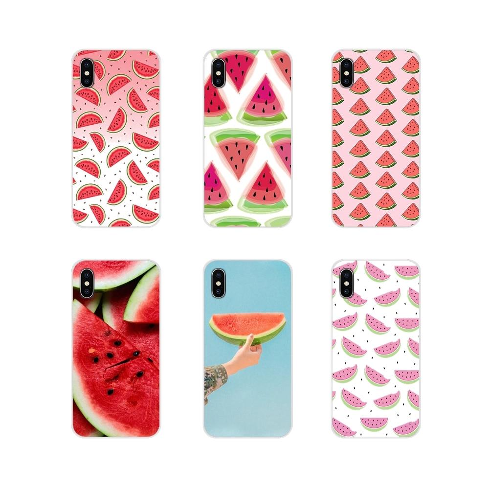 Fruto da melancia Rosa Bonito Para Samsung Galaxy S3 S4 S5 Mini S6 S7 Borda S8 S9 S10 Lite Plus Nota 4 5 8 9 TPU Transparente Caso Saco