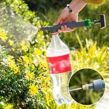 고압 공기 펌프 수동 분무기 조정 가능한 음료 병 스프레이 헤드 노즐 정원 정원 정원 도구