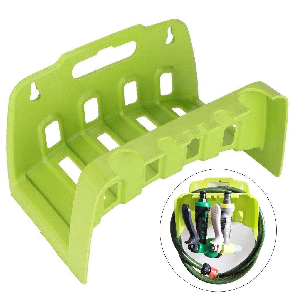 Colgador de manguera, soporte organizador de patio, soporte decorativo portátil para jardín, estante de tubería de agua montado en pared para el hogar