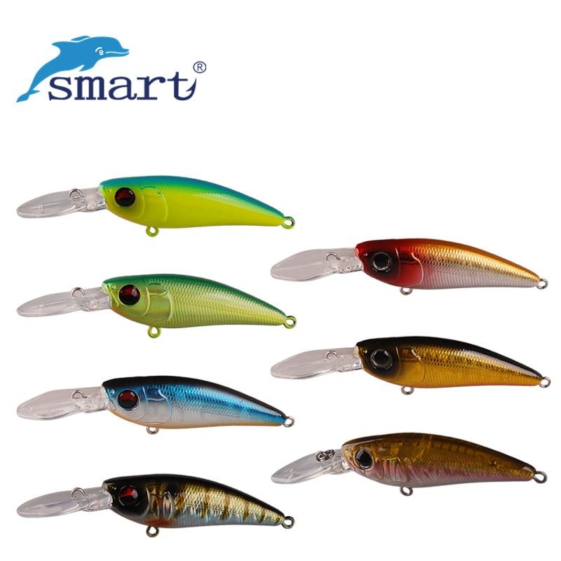 Inteligente Minnow cebo 53mm y 4,6g Señuelos de Pesca flotante de 0,5-0,7 m de Isca Artificial Para Pesca Leurre Souple peche Mer aparejos de pesca