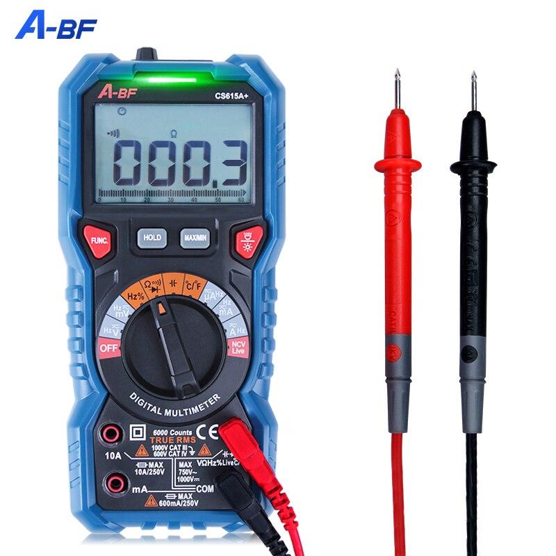 A-BF رقمي متعدد صحيح RMS NCV ذكي التيار المتناوب تيار مستمر السيارات المدى الفولتميتر مقياس التيار الكهربائي السعة جهاز اختبار المقاومة البيانات
