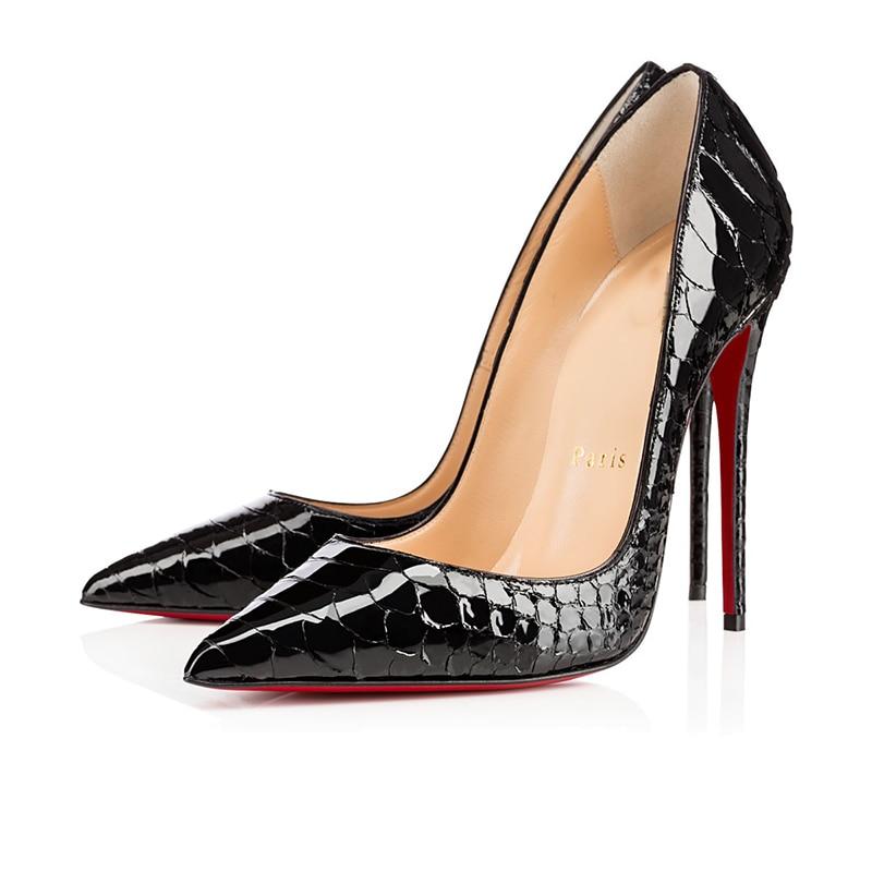 Luxury Pumps Sexy Platform Clear Women 3 Color Ladies High Heels 8 10 12cm Red Bottom mules Wedding
