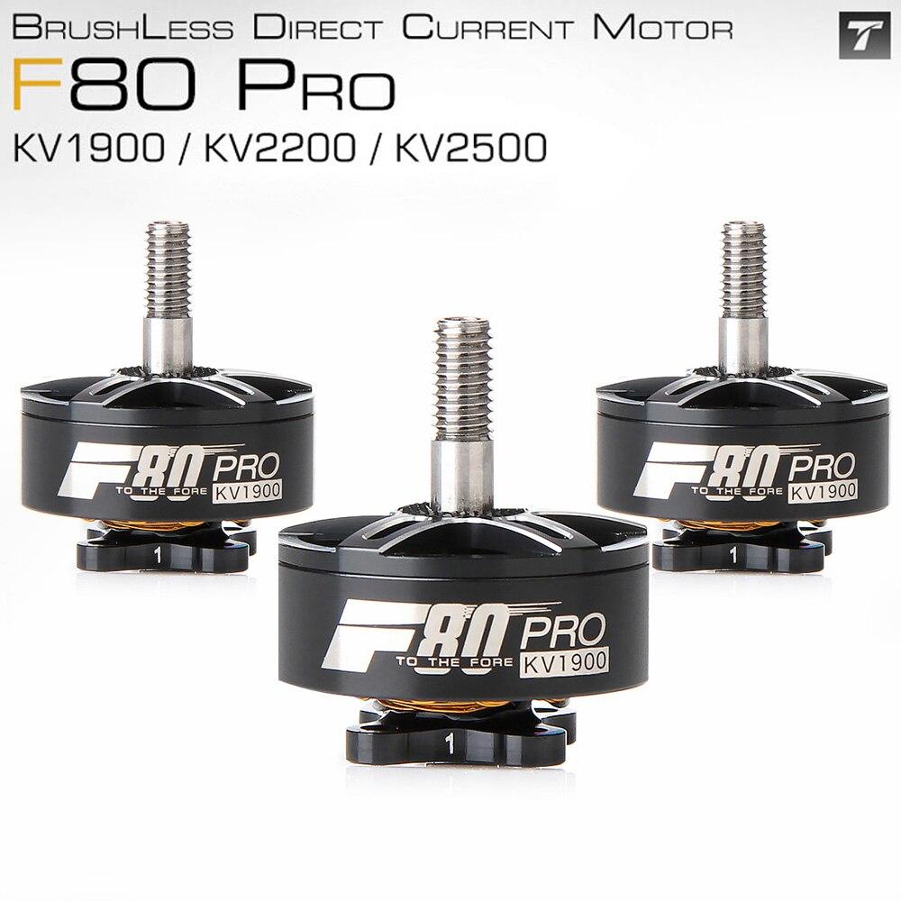 Tmotor t-motor f80 pro 1900kv/2200kv fpv motor elétrico sem escova para rc modelos zangão 220 250 fpv quadro de corrida