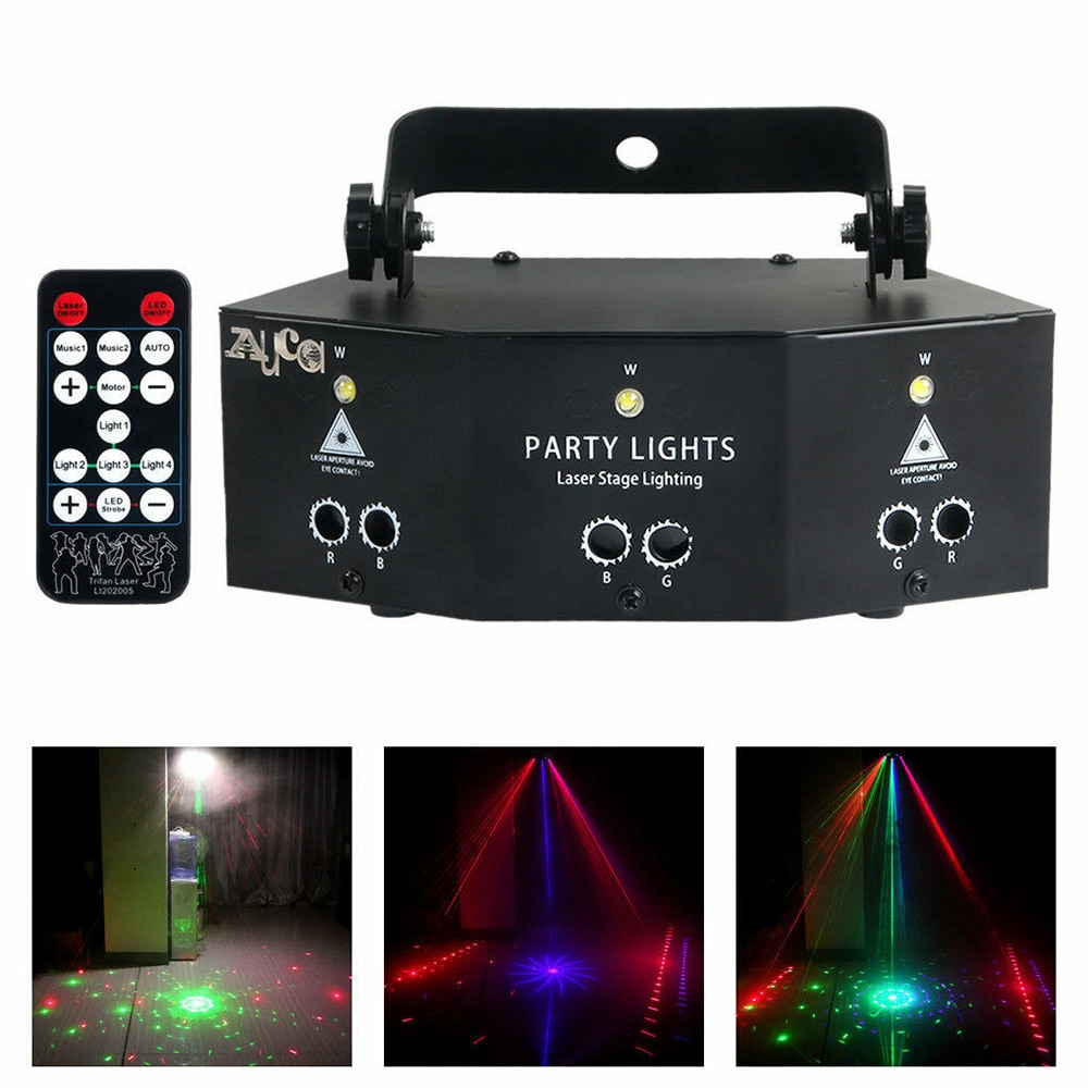 Nuevo proyector láser profesional Nine Eye, luz para fiesta de discoteca, Show, proyector láser, lámpara de efecto con controlador
