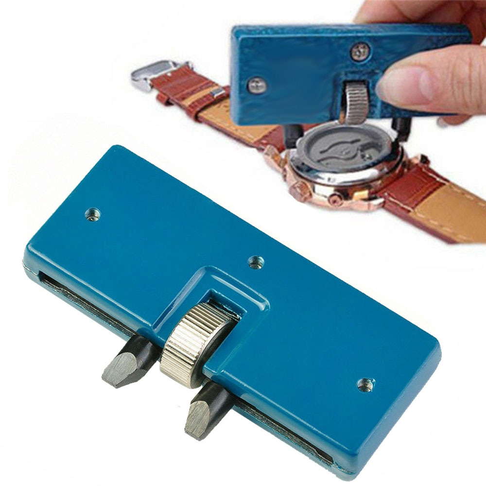 Two Claw Table Key Watch Rear Cover Open Tool Adjustable Rectangular Remover Wrench Watch Repair Kit