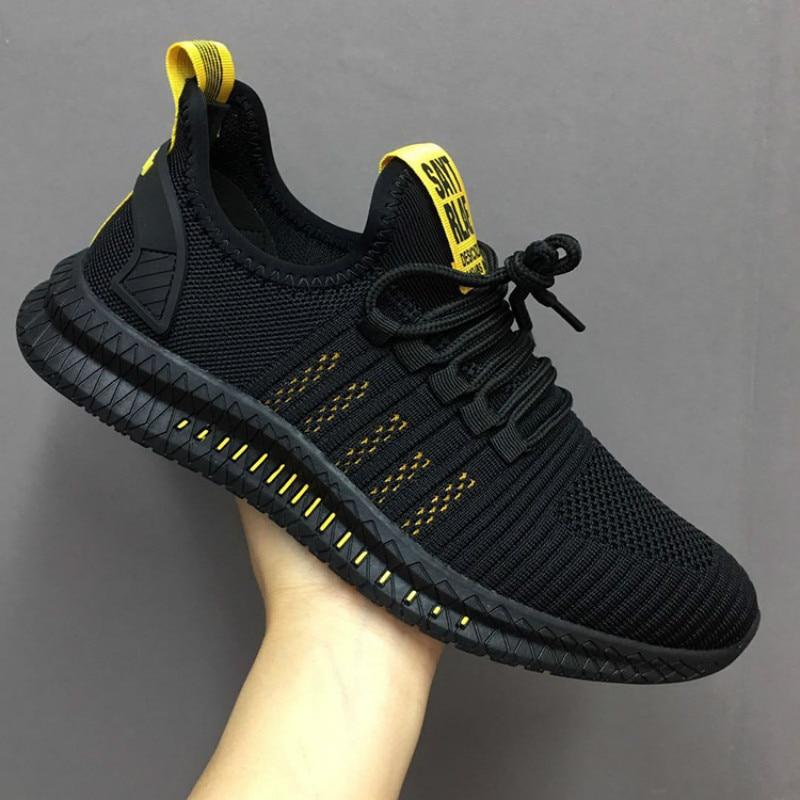 Fashion Men Sneakers Mesh Casual Shoes Lac-up Mens Shoes Lightweight Vulcanize Shoes Walking Sneaker