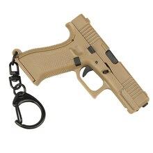 Llavero táctico con forma de pistola, Mini decoraciones portátiles, desmontable, G-45, arma, llavero, anillo, regalo de tendencia