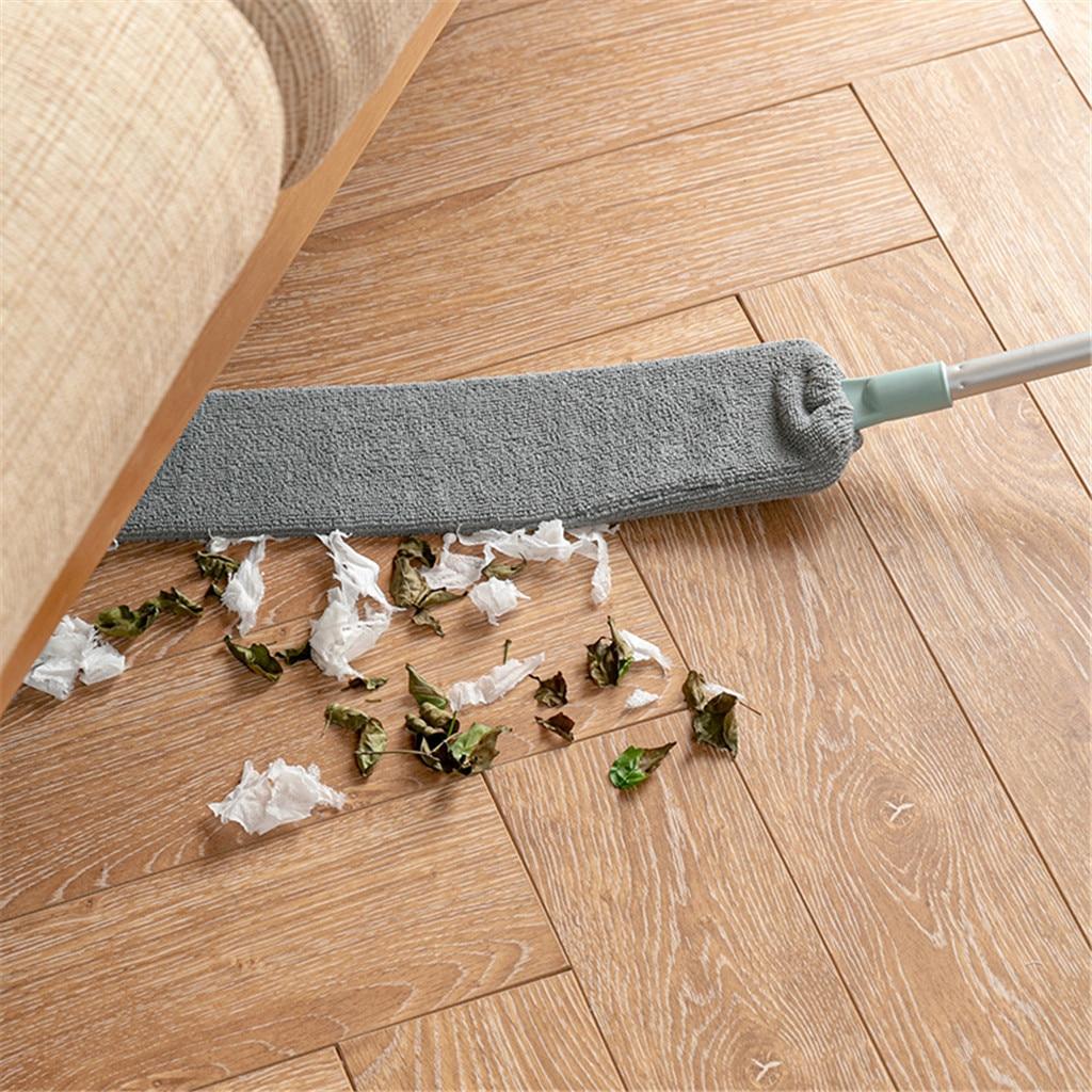 Escoba de polvo, escoba Flexible, mango largo, escobilla de polvo para mesilla de noche, sofá de casa, mueble, fregona inferior, limpiador de polvo, herramientas de limpieza del hogar #7