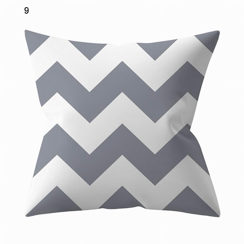 Funda de almohada gris geométrica funda de almohada gris plateado sofá almohada cojín para el hogar cubierta 45x45cm