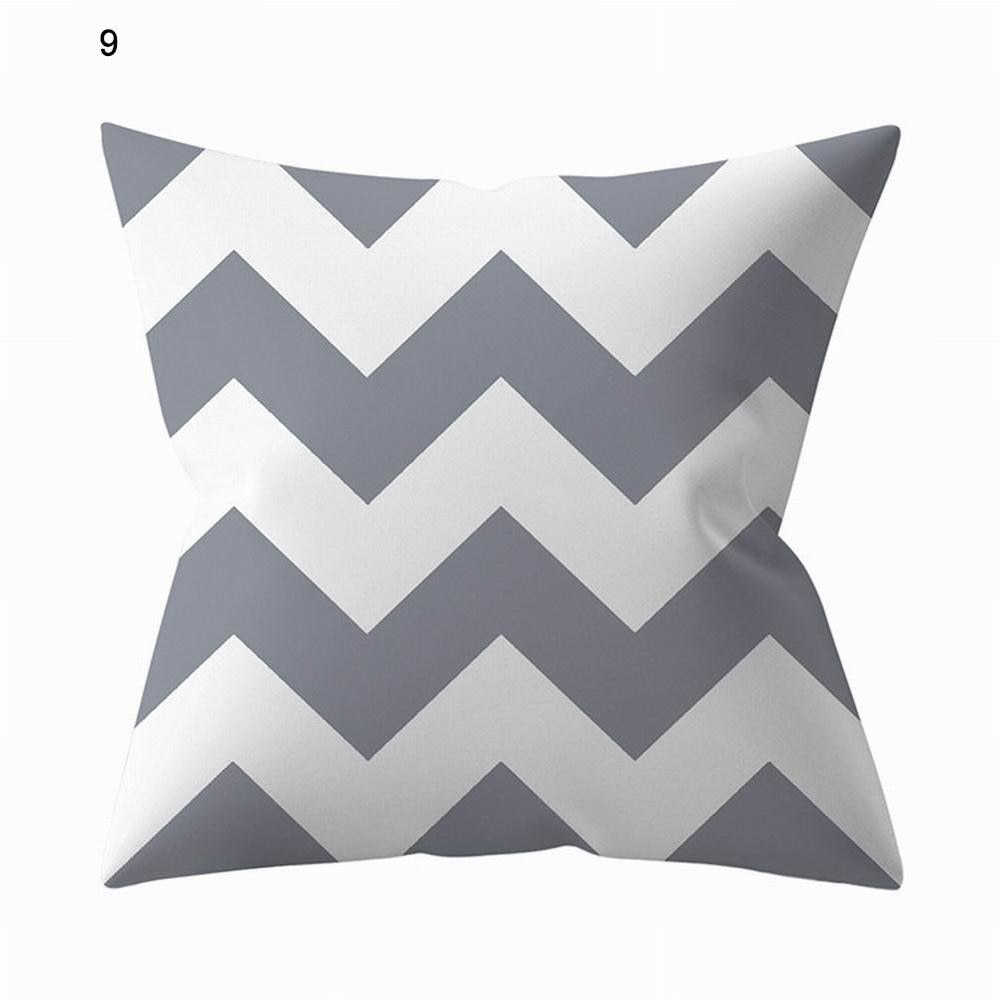 Pillow Case Grey Geometric Pillow Coat Cover Silver Grey Sofa Pillow Home Cushion Cover 45x45cm
