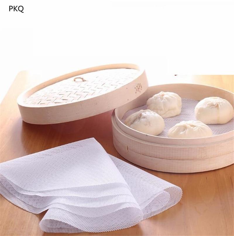 11 см-55 см новый круглый силиконовый Экологически чистая Пароварка коврик на пару чучела булочка хлеб коврик Домашний отпариватель пельмени коврик