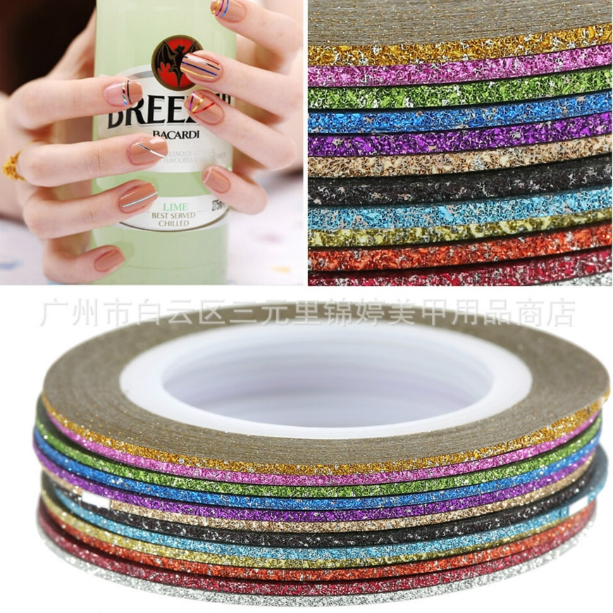 HOT SELL 1mm 12color Glitter Nail Primer Gel Varnish Soak Off UV Gel Nail Polish Base Coat No Wipe Color Gel Polish