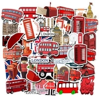 1050pcs waterproof london red bus telephone booth pvc stickers for laptop motorcycle skateboard luggage decal toy vsco sticker