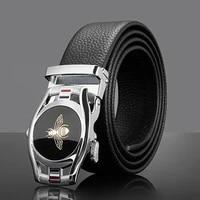 kemeiqi genuine leather belt men belt automatic buckle high quality cow genuine leather belt formal luxury designer men belt for