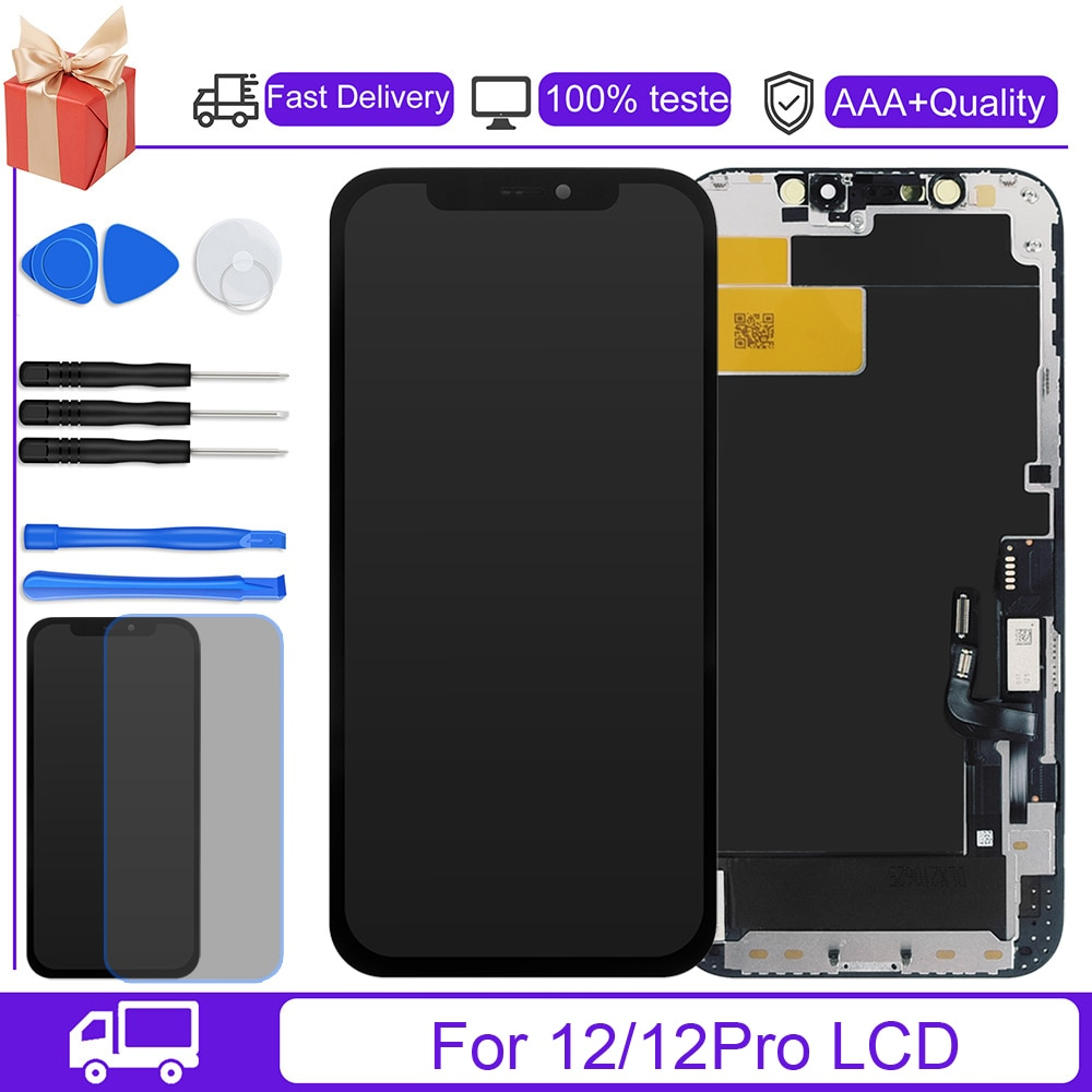 Promo JK Incell Pantalla Display For iPhone 12 Pro Incell LCD Display Touch Screen Digitizer Assembly No Dead Pixel Replacement Parts