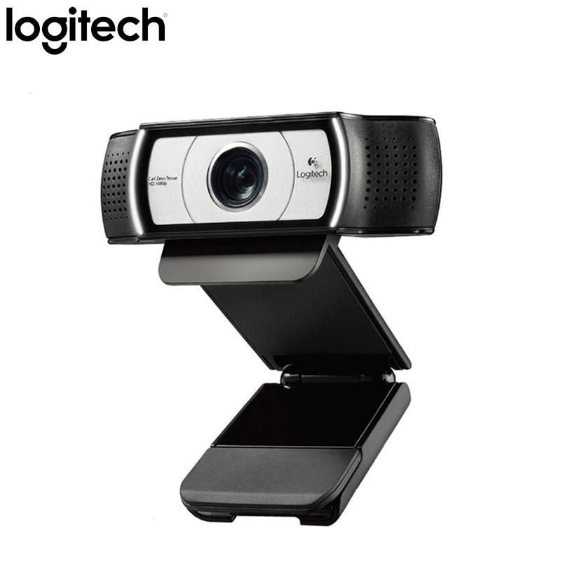 لوجيتك C930C HD1080 كاميرا بـ USB Garle Zeiss عدسة شهادة كاميرا ويب 4 الوقت التكبير الرقمي دعم التحقق الرسمي للكمبيوتر
