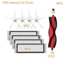 9 pièces Robot aspirateur HEPA filtre principal brosse accessoires pour roborock S4 S5 MAX Robot pièces