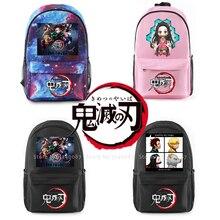 Anime Backpack Demon Slayer Kimetsu No Yaiba Knapsack Cosplay Costumes Kamado Tanjirou Nezuko Agatsuma Zenitsu School Bag Props