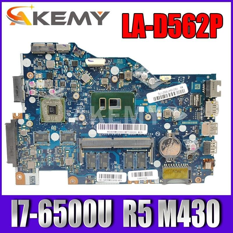 AKemy NEW 80UC لجهاز Lenovo ideapad 110-14 ISK اللوحة الأم للكمبيوتر المحمول UMA LA-D562P CPU (I7-6500U) DDR4-4GB FRU 5B20M41040 اختبار
