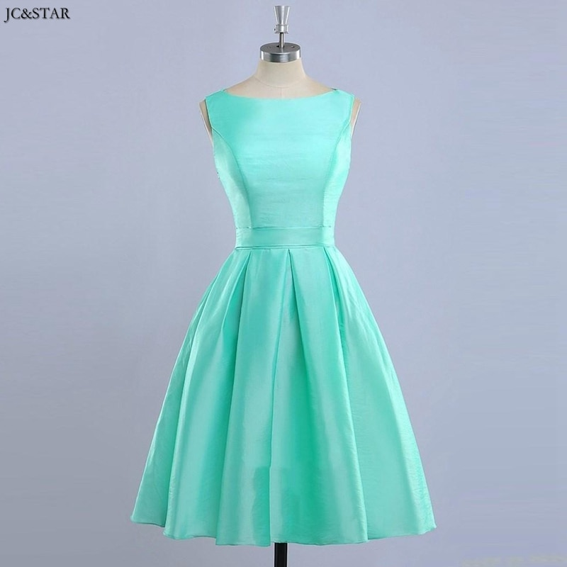 Vestido corto de satén para dama de honor, prenda personalizada en color...