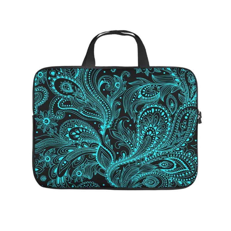 Mandala Flower Paisley Laptop Sleeve Trendy 3D Notebook Bag Slim Neoprene Fabric Notebook Briefcase for businessmen Office Staff
