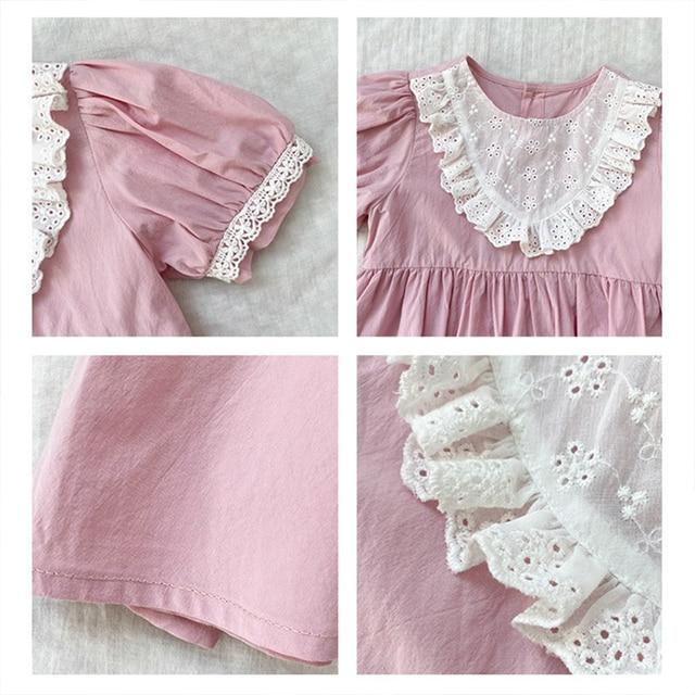 2021 Summer Children Casual Dress Kid Clothes Pasted Cloth Korean Baby Short Sleeve Princess Skirt Kids Dresses for Girls 6