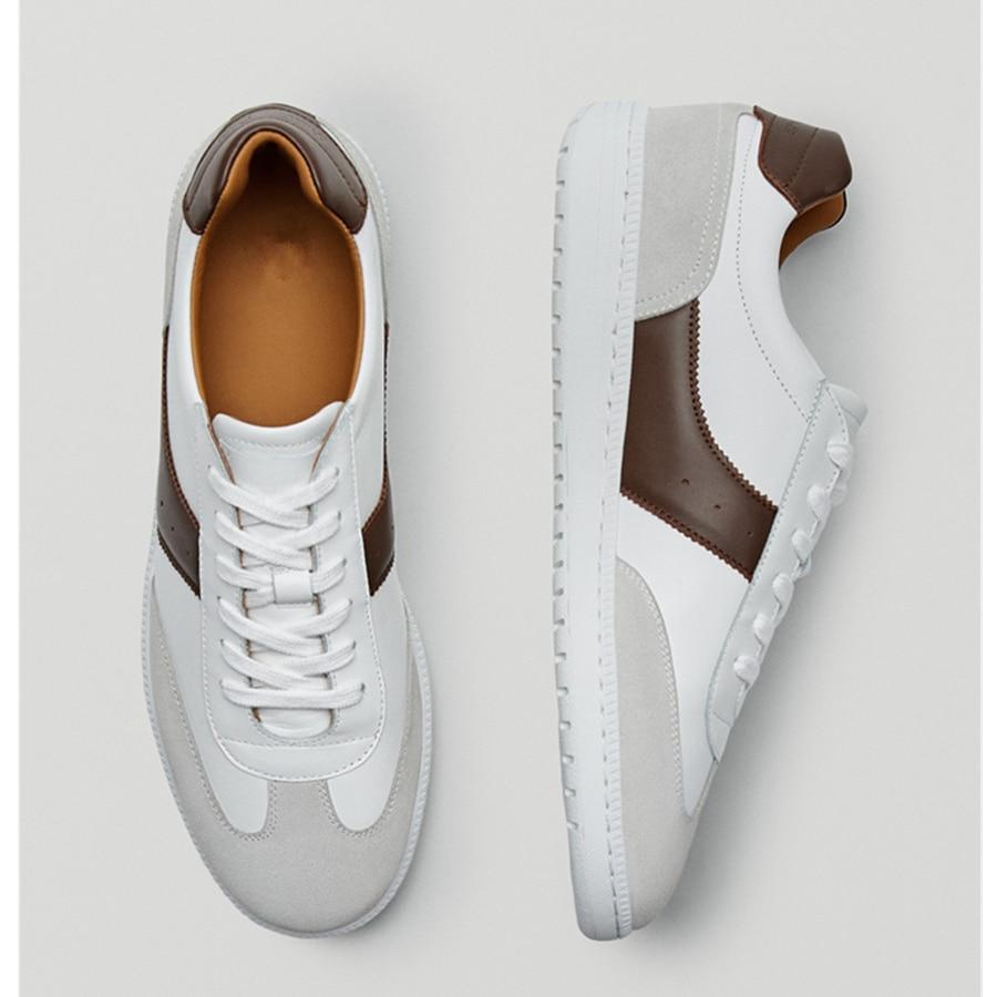 ذبل أحذية مفلكنة عادية الرجال أحذية تدريب الألمانية جلد طبيعي المرقعة أحذية رياضية الألمانية أحذية تدريب حذاء رجالي رجل