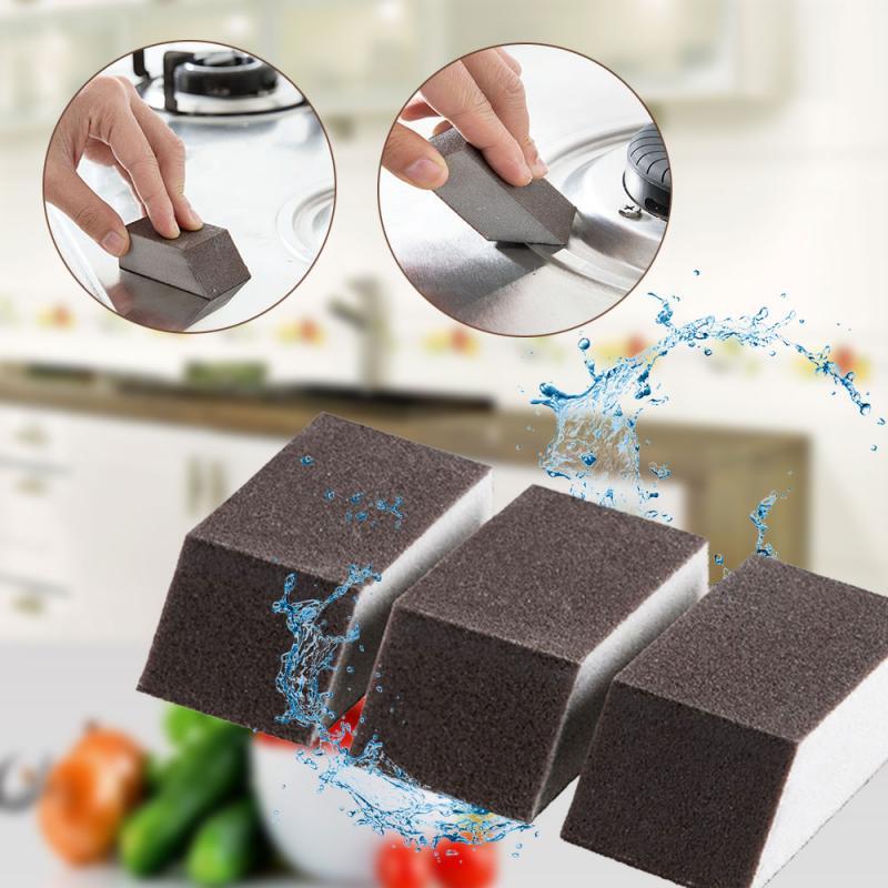 1pcs Esmeril Esponja Mágica Escova de Limpeza Da Cozinha Ferramentas De Limpeza De Ferrugem Casa Escova de Limpeza Da Cozinha Alumina Esmeril Esponja Limpa TSLM1