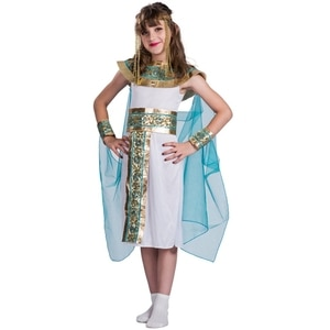 Kids Blue Cleopatra Child Halloween Cosplay  Costume Back In The Egyptian As The Famous Queen Historical Plays Role Play