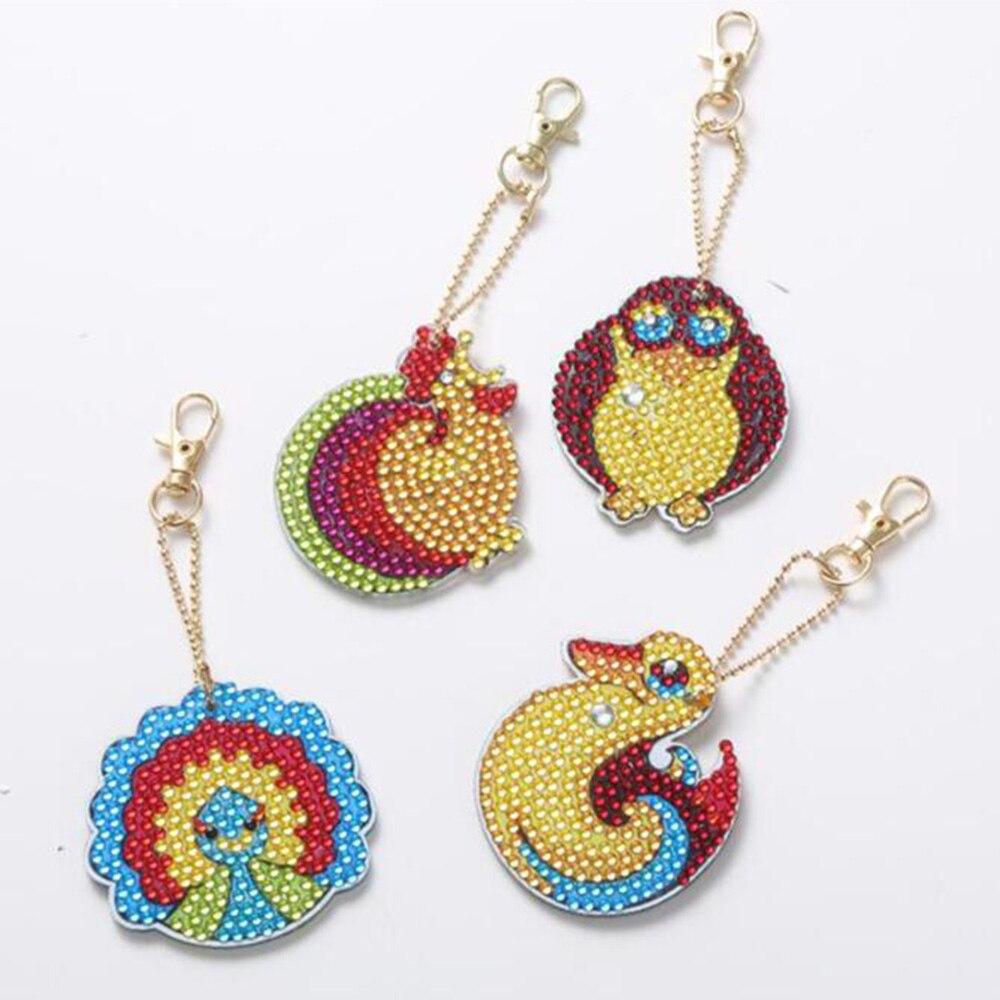 5d diy diamante pintura chaveiro strass bordado pingente diy kits de artesanato mosaico ponto cruz diamante bordado