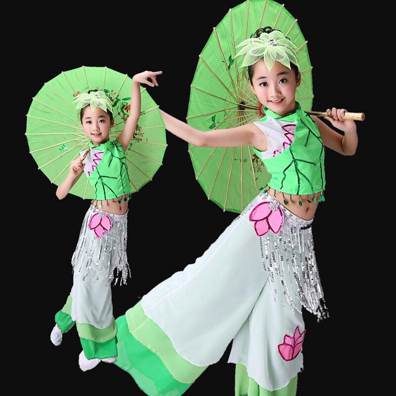 Детская Классическая китайская одежда, танцевальные костюмы, фанатские танцевальные костюмы Янко, танцевальные костюмы
