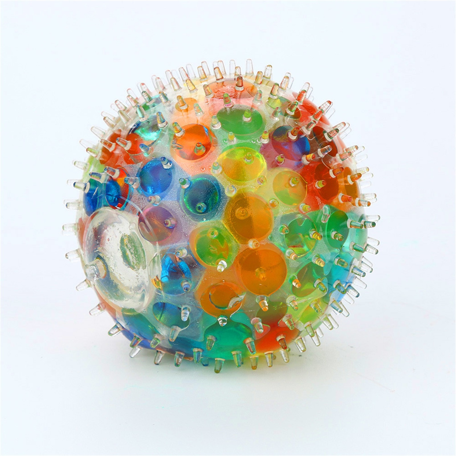Anti-stress Toys Spongy Rainbow Ball Toy Hot Sale Spongy Bead Stress Ball Toy Squeezable Stress Squishy Toy Stress Relief Ball enlarge