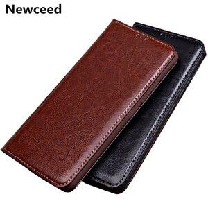 Luxury Business Style Flip Calfskin Genuine Leather Case For UMIDIGI BISON GT/UMIDIGI BISON/UMIDIGI A9 Pro Phone Bag Etui Holder