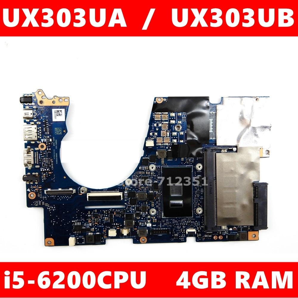 UX303UA Moederbord I5-6200 Cpu 4Gb Ram Voor Asus Zenbook UX303UA UX303U UX303UB Ultrabook Moederbord UX303UA Moederbord Test Ok