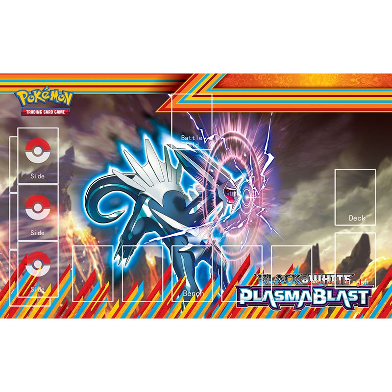 Tapete de goma grande Pokemon Plasma Blaster Dialga Japón Anime TCG juego de cartas de mesa accesorios de fiesta