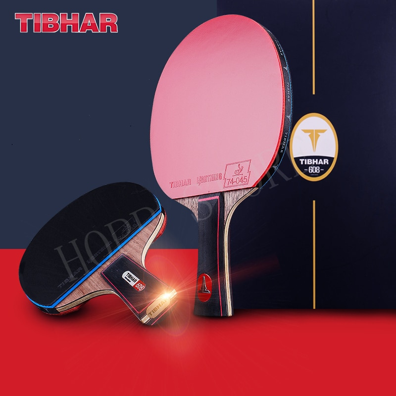 TIBHAR Table Tennis Racket 806/608 Sticky Rubber Pimples-in Professional Hight Quality Original TIBHAR Racket Ping Pong Bat