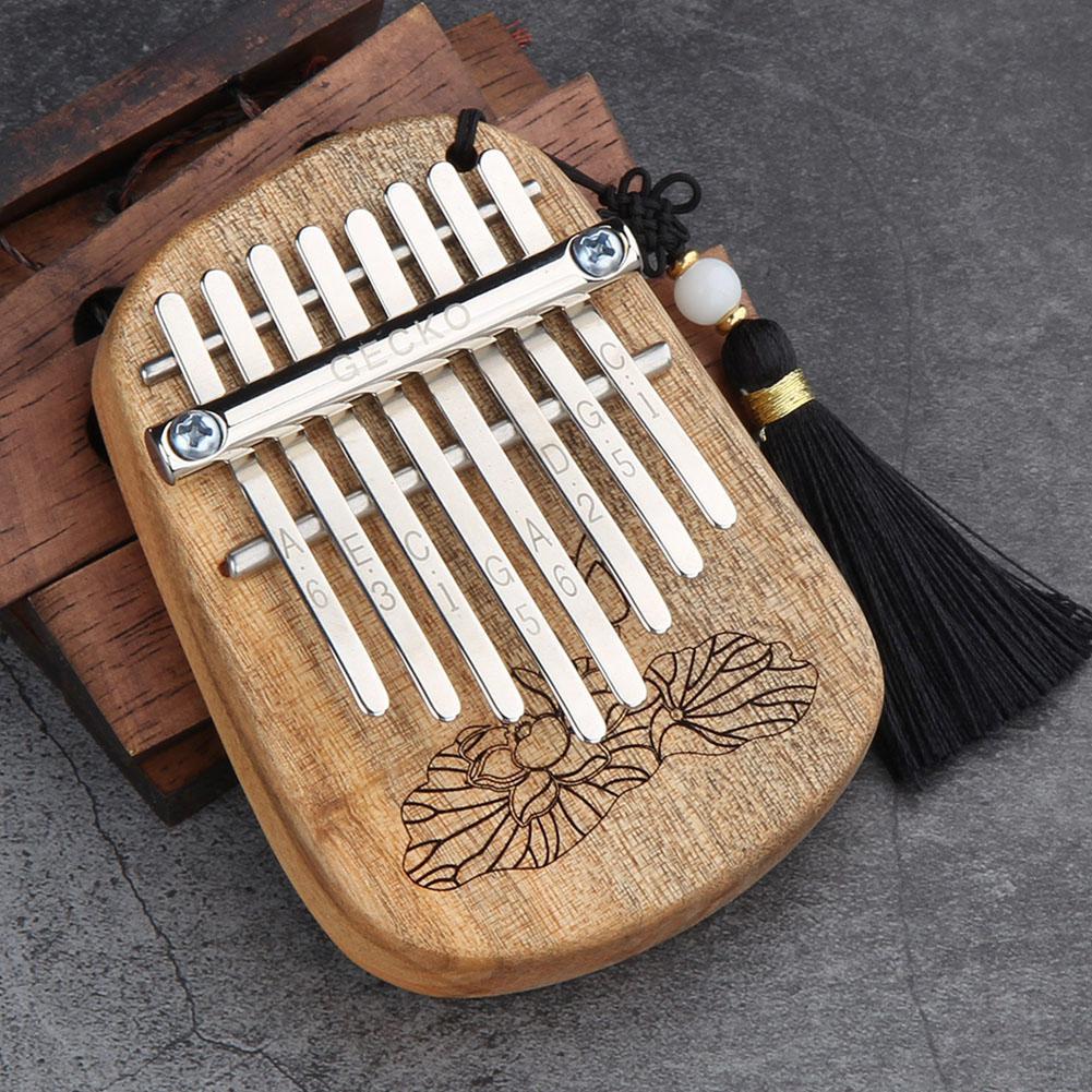GECKO 8 Keys Finger Kalimba Thumb Piano Portable Beginners Keyboard Marimba Wood Musical Instrument enlarge