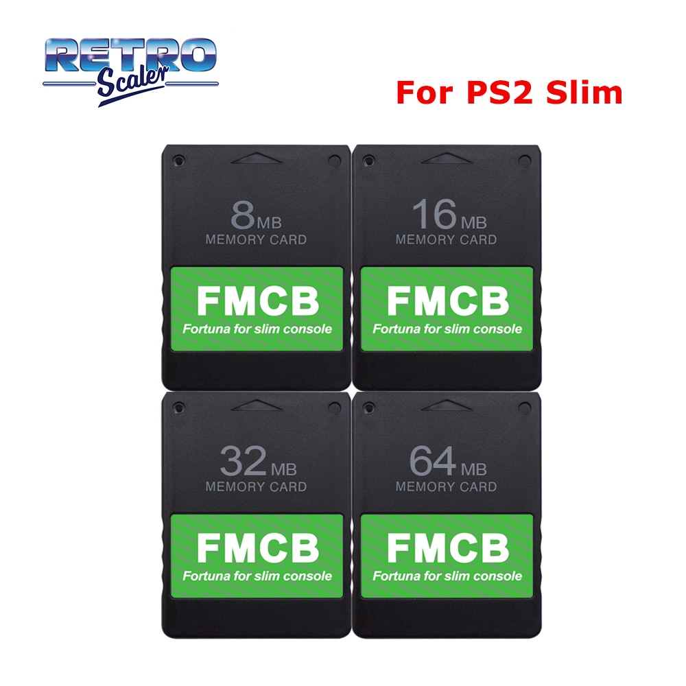 RetroScaler Newest Game Card FMCB Free McBoot (8MB/16MB/32MB/64MB) for All PS2 Slim Console Only