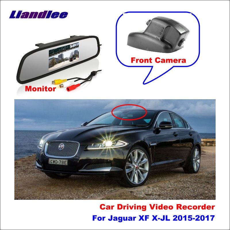 Liandlee coche DVR Wifi grabador de vídeo Dash Cam cámara para Jaguar XF X-JL 2015-2017 Aplicación de visión nocturna de Control teléfono Móvil