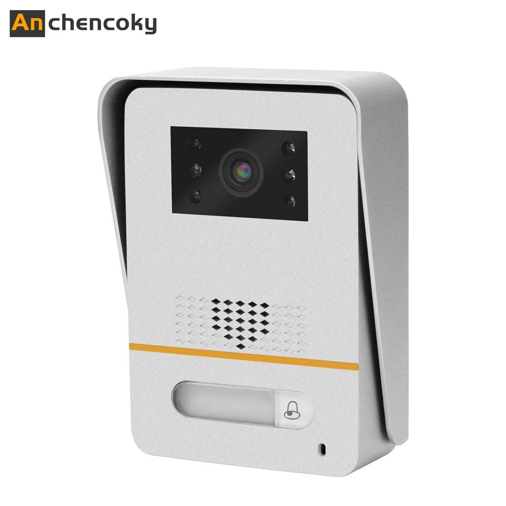 Anchencoky, para puerta con cable, 1200TVL, para timbre de puerta, 150 grados, gran angular, para videoportero, videoportero, Panel de llamada