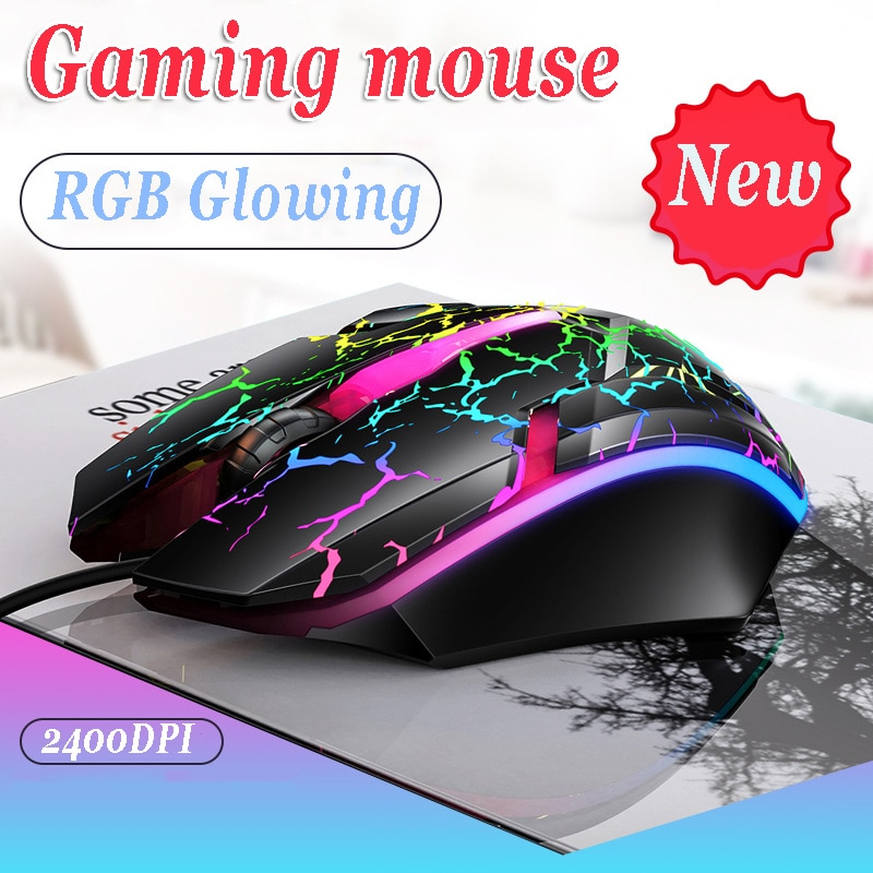 Ergonomic Wired Gaming Mouse LED 1200 DPI USB Computer Mouse for PC Gamer RGB Mice Silent Mause with Backlight Cable for Laptop недорого