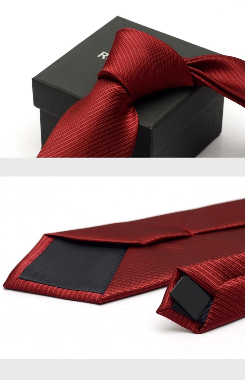 2020 Brand New Men's High Quality Fashion 6CM 8CM Slim Wine Red Striped Necktie Romantic Wedding Neck Tie for Men with Gift Box