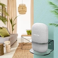 Wall Stand Desktop Home Smart Speaker Holder for Google Nest Audio Accessory Space Saving Desk Organizer Wall Bracket