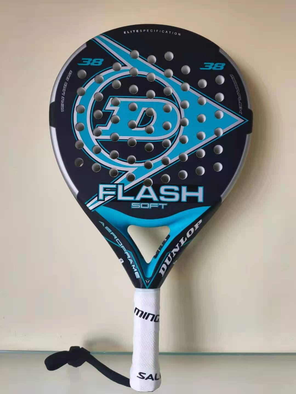 Men Padel Tennis Racket Beach Racquet Racket Carbon Fiber Soft EVA Face Beach Tennis Padel Dunlop Beach Paddle With Cover