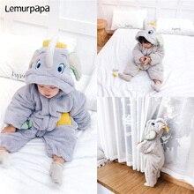 Winter Baby Boy Girl Clothes Romper Thicken Cute Elephant Onesie Newborn Toddler Rompers Flannel War