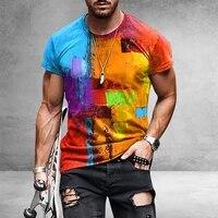 shujin vintage mens retro short sleeve t shirt harajuku ethnic style 3d printed t shirt round neck pattern summer 2021